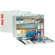 First Aid Only™ 90572 2 Shelf First Aid Kit w/Meds, ANSI Compliant, Class A+, Metal Cabinet
