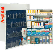 First Aid Only™ 90577 5 Shelf First Aid Kit w/Meds, ANSI Compliant, Class B+, Metal Cabinet