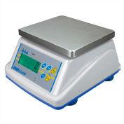"""Adam Equipment WBW15aM NTEP Digital Washdown Bench Scale 15 x 0.005lb 8-5/16"""" x 6-13/16"""" Platform"""