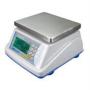 "Adam Equipment WBZ15a Digital Washdown Retail Scale 15lb x 0.005lb 8-5/16"" x 6-13/16"" Platform"
