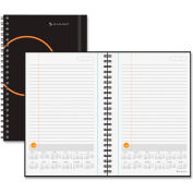 AT-A-GLANCE® Planning Notebook with Reference Calendar, 6 x 9, Black - 70621005