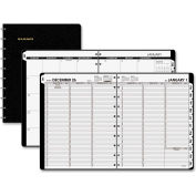 "AT-A-GLANCE® Large Pro Weekly/Monthly with Poly Cover 13/16"" x 9-13/16"" x 11-5/16"" Black"