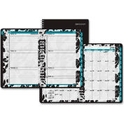 "AT-A-GLANCE® Madrid Academic Weekly/Monthly Appointment Book 5/8"" x 9-5/16"" x 11-1/8"" Blk/White"