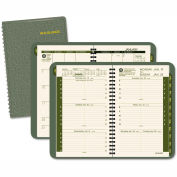 AT-A-GLANCE® Recycled Weekly/Monthly Appointment Book, 4 7/8 x 8, Green, 2016