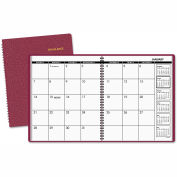 AT-A-GLANCE® Monthly Planner, 9 x 11, Winestone, 2019