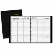 AT-A-GLANCE® Weekly Appointment Book, 8 1/4 x 10 7/8, Black, 2018-2019