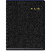 AT-A-GLANCE® Triple View Weekly/Monthly Appointment Book, 8 1/4 x 10 7/8, Black, 2019