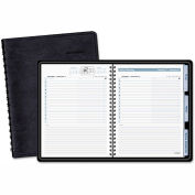 AT-A-GLANCE® The Action Planner Daily Appointment Book, 6 7/8 x 8 3/4, Black, 2016