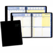 AT-A-GLANCE® QuickNotes Weekly/Monthly Appointment Book, 8 x 9 7/8, Black, 2019