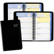AT-A-GLANCE® QuickNotes Weekly/Monthly Appointment Book, 3 3/4 x 6, Black, 2016