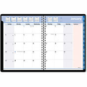 AT-A-GLANCE® QuickNotes Special Edition Monthly Planner, 8 1/4 x 10 7/8, Black/Pink, 2016