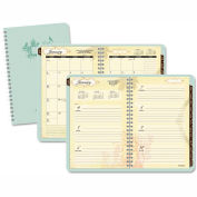 AT-A-GLANCE® Poetical Weekly/Monthly Planner, 5 1/2 x 8 1/2, Green, 2016-2017