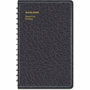 AT-A-GLANCE® Telephone/Address Book, 4-7/8 x 8, Black