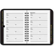 "At-A-Glance® Telephone And Address Book AAG8020105, 3-3/4""W X 6-1/8""H, Black"