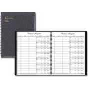 "At-A-Glance® Visitor Registration Book, 8-7/8"" x 11-7/16"", Black Cover, 60 Sheets/Pad"