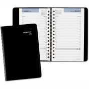 DayMinder® Daily Appointment Book, 4 7/8 x 8, Black, 2019