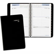 DayMinder® Weekly Appointment Book with Telephone/Address Section, 4 7/8 x 8, Black, 2016