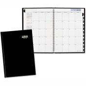 DayMinder® Premiere Monthly Planner, 7 7/8 x 11 7/8, Black, 2019