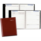 DayMinder® Executive Weekly/Monthly Planner, 6 7/8 x 8 3/4, Burgundy, 2016