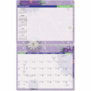 AT-A-GLANCE® Paper Flowers Monthly Desk/Wall Calendar, 11 x 8 1/2, 2016