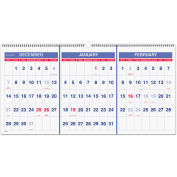 AT-A-GLANCE® Vertical-Format Three-Month Reference Wall Calendar, 23 1/2 x 12, 2015-2017