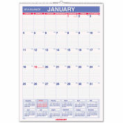 AT-A-GLANCE® Erasable Wall Calendar, 12 x 17, White, 2019