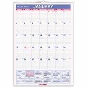 AT-A-GLANCE® Erasable Wall Calendar, 12 x 17, White, 2018