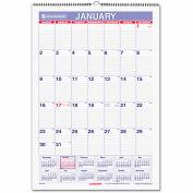 AT-A-GLANCE® Erasable Wall Calendar, 15 1/2 x 22 3/4, White, 2019