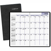 DayMinder® Pocket-Sized Monthly Planner, 3 5/8 x 6 1/16, Black, 2015-2016
