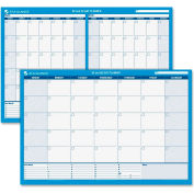 AT-A-GLANCE® 30/60-Day Undated Horizontal Erasable Wall Planner, 48 x 32, White/Blue, - PM33328