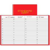 """Daily Appt Book,  Half-Hourly,  Hard Cover,  7-1/2""""x9-7/16"""",  Red"""