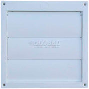 Speedi-Products Louvered Plastic Flush Hood EX-HLFW 06 White No Tailpipe 6""