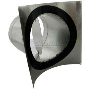 "Speedi-Products 4"" Round Pipe Saddle 90° Take Off With Gasket and Volume Damper SM-SDL90D 04"