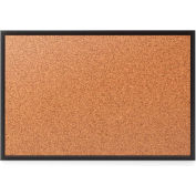 Quartet® Cork Bulletin Board, 5' x 3', Black Frame