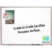 "Quartet® DuraMax® Porcelain Whiteboard, 36""W x 24""H, Aluminum Frame"