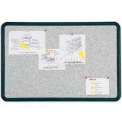 "Quartet® Contour® Granite Bulletin Board, 36""W x 24""H, Self-Healing, Black Frame"