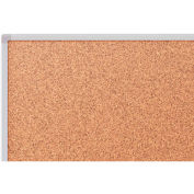 Mead® Classic Cork Bulletin Board, 6' x 4', Aluminum Frame