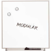 "Quartet® Matrix® Modular Whiteboards, 34""W X 23""H, Magnetic, Flexible Mounting"