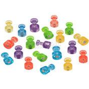Quartet® Magnetic Push Pins, High Power Magnets, Bright Colors, 20/Set - Pkg Qty 12