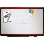 "Quartet® Prestige Plus® Premium Porcelain Whiteboard, 36""W x 24""H, Mahogany Frame"