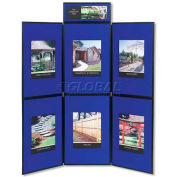"Quartet® Show-It 6-Panel Display System, 72""W x 72""H, 2-Sided Panels"
