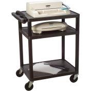 Quartet® Duracart™ All-Purpose AV Cart w/3 Shelves, 3-Plug Outlet