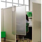 """Quartet® Workstation Privacy Screen, 36""""W x 48""""H, Sliding, Partial Length"""