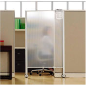 "Quartet® Workstation Privacy Screen, 36""W x 64""H, Rolling, Full Length"