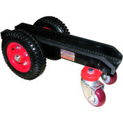 """Abaco 4 Wheel Slab Dolly 4WD Solid Rubber Tires 660 Lb. W.L.L. 3-1/8"""" Channel"""