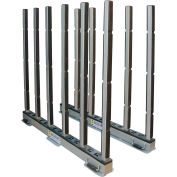 """Abaco RSR10R, Rhino Slab Rack with Rubber Lined Poles, 118""""L x 7""""W x 50""""H, 30,000 lbs Cap"""