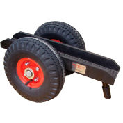 """Abaco Slab Dolly SD011 - 11""""H Pneumatic Rubber Tires 605 Lb. W.L.L. 3-1/8"""" Channel"""