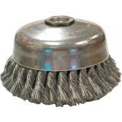 Knot Wire Cup Brushes-Single Row-US Series, ANDERSON BRUSH 17255