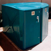 "301P, Bike-Shell Bike Locker, 1 Bike Cap., 72""L x 30""Wf x 4""Wb x 49""H, Medium Grey, Padlock Handle"