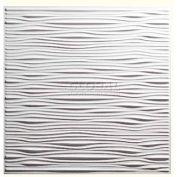 Genesis Designer Drifts PVC Ceiling Tile 751-00, Waterproof & Washable, 2'L X 2'W, White- 12/Case